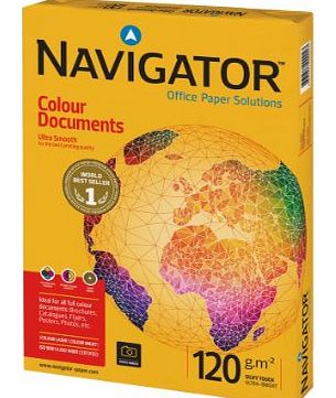 Colour Documents Paper Ultra Smooth 120gsm A4 White Ref NAV0330 [250 Sheets]